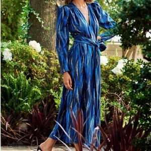 HAPPYXNATURE by Kate Hudson blue print maxi